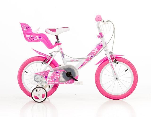 """ACRA 164RN Bílá+růžový potisk 16"""" 2015 dětské kolo"""