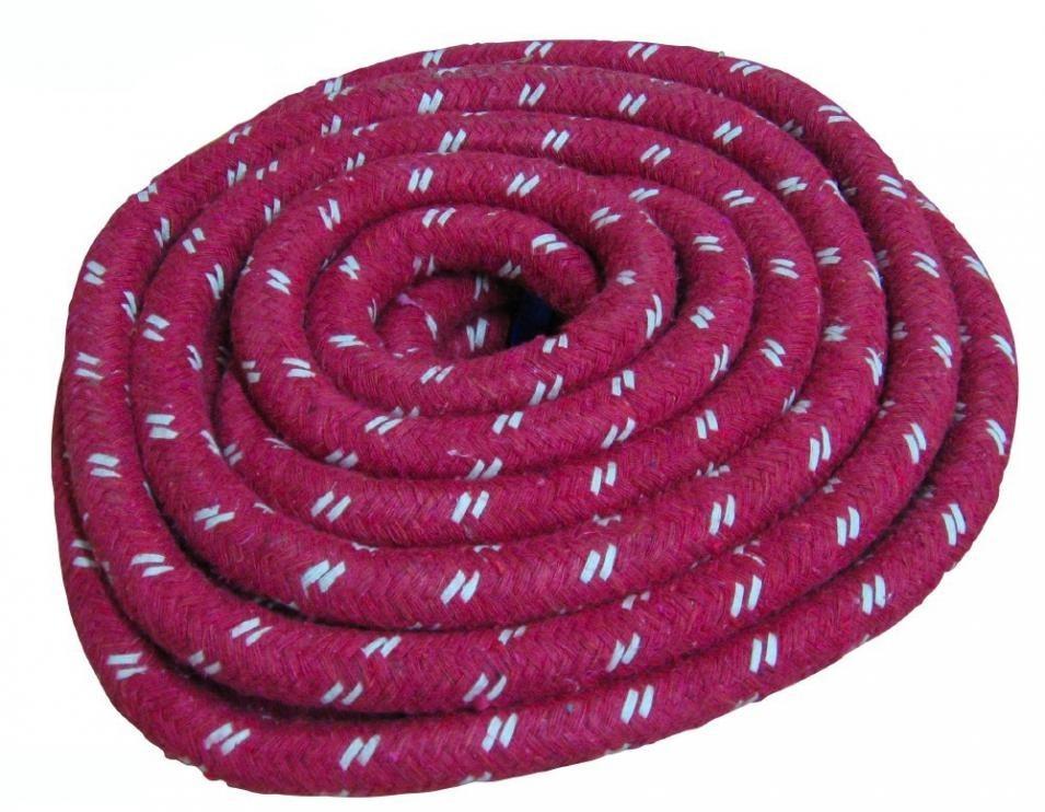 Lano na přetahování bavlna KV Řezáč 10 m červené