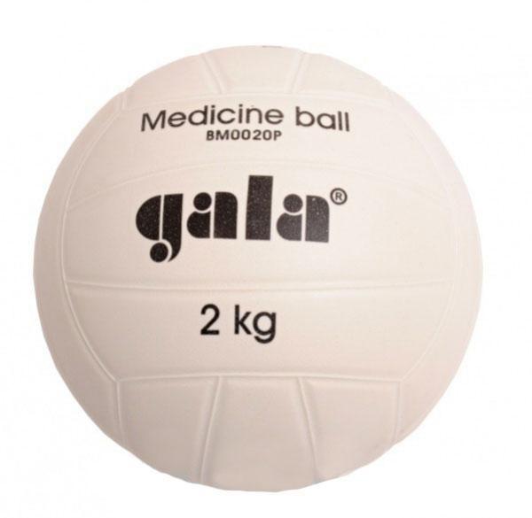 Míč medicinbal plastový 2 kg GALA barva bílá
