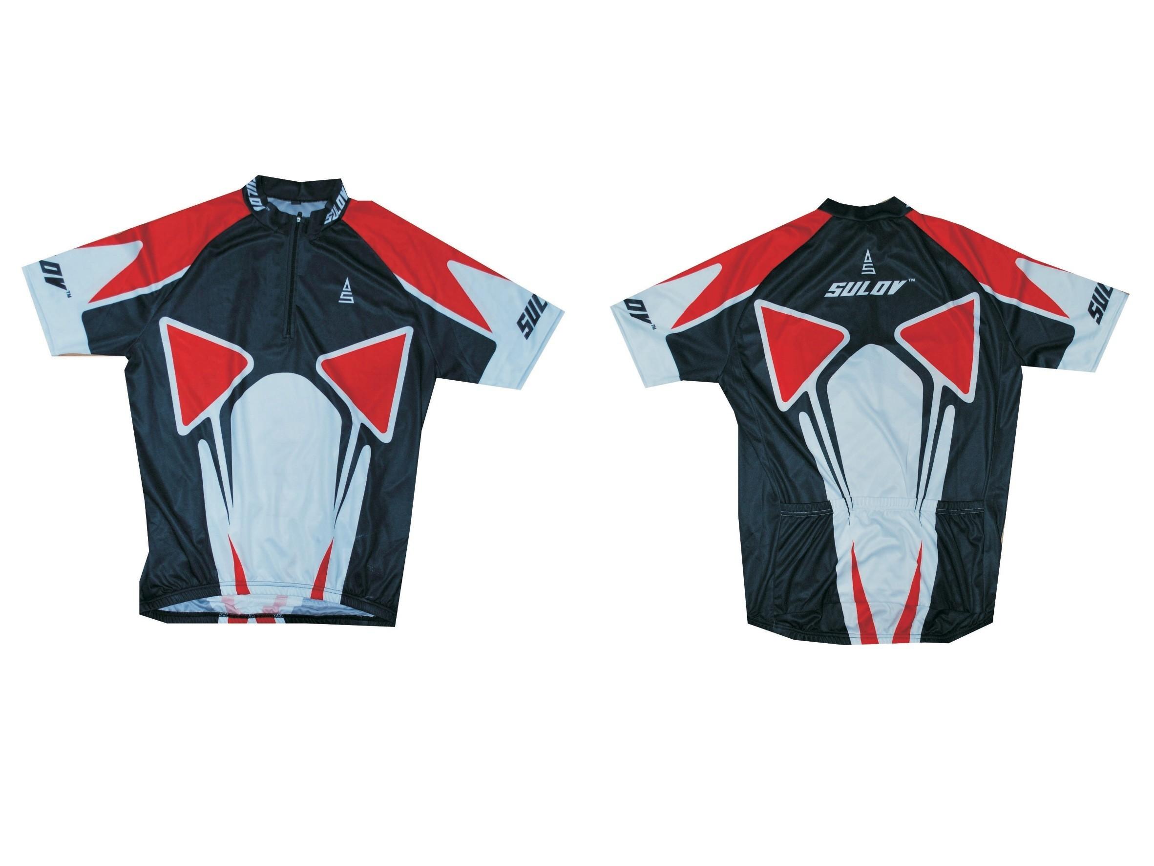 Cyklistický dres SULOV, vel. XL, červený
