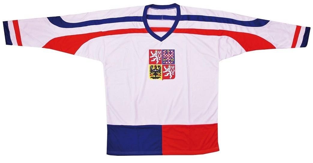 Hokejový dres ČR 2, bílý, vel. L