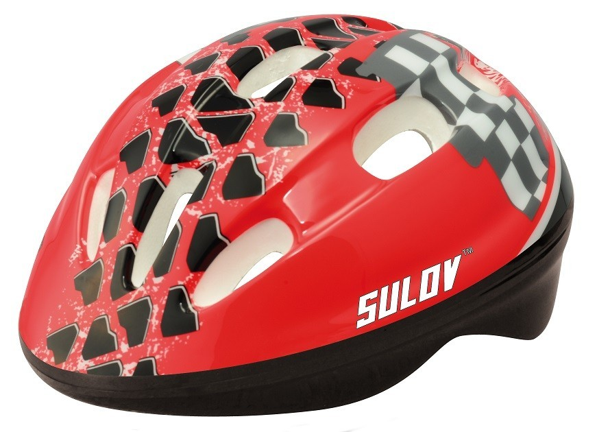 Dětská cyklo helma SULOV JUNIOR, vel. S, červená