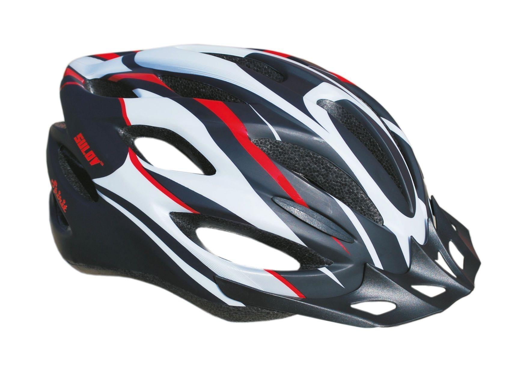 Cyklo helma SULOV SPIRIT, vel. L, černo-červená polomat