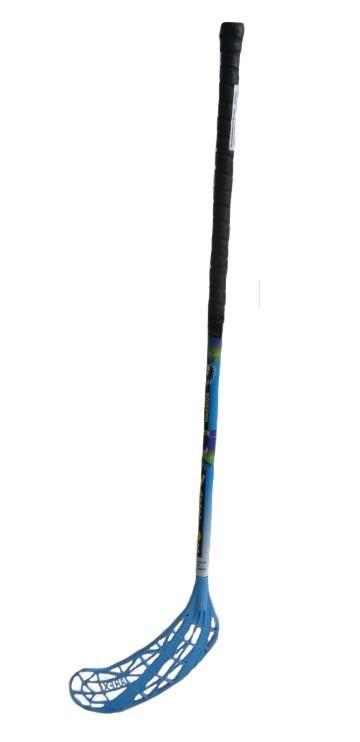Florbal hůl WARRIOR IFF UNIHOC modrá délka 100 cm pravá