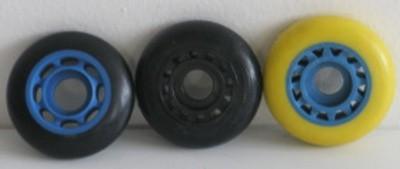 Kolečka IN-LINE PU vstřikovaná černá