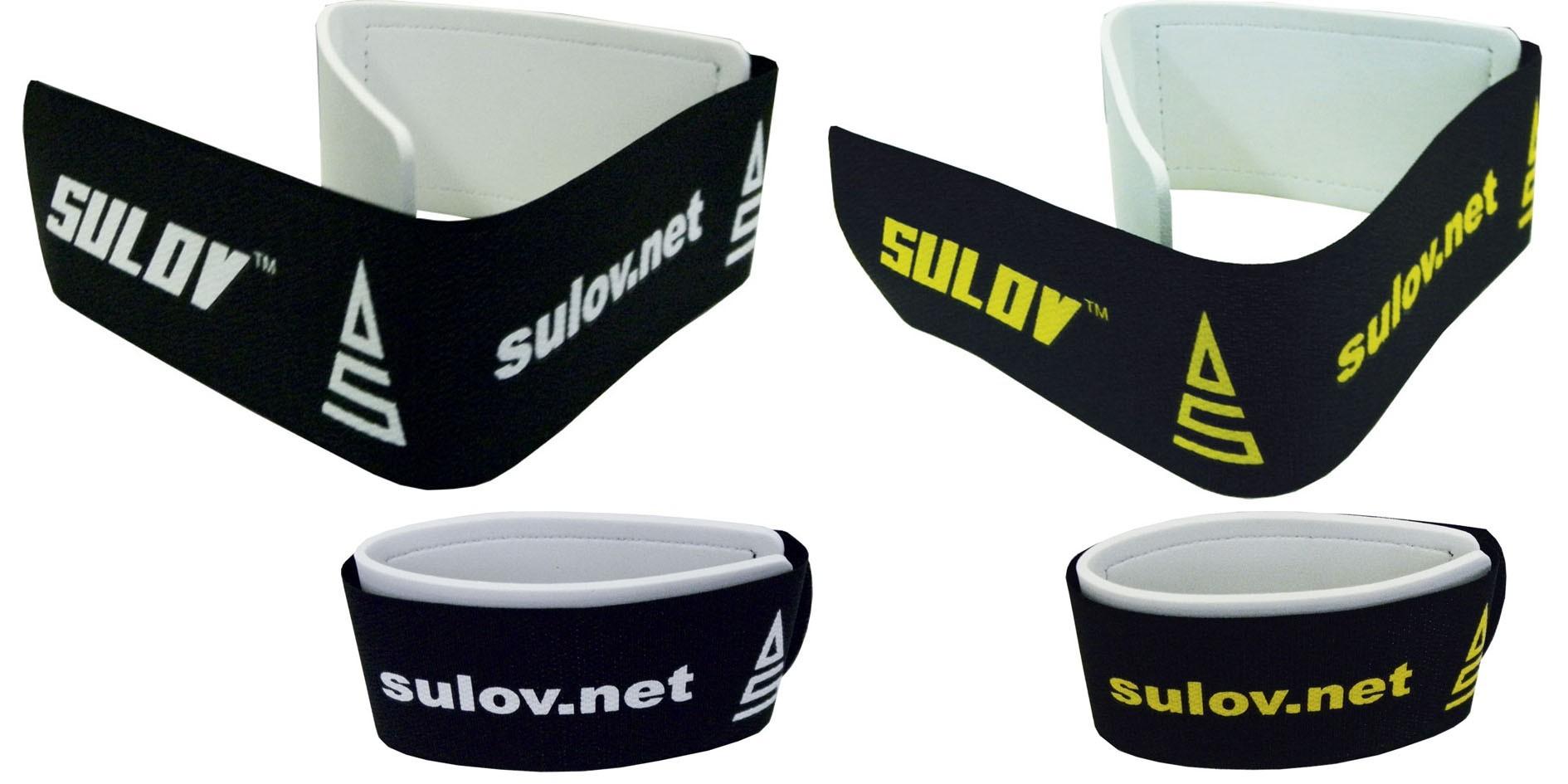 Pásek na sjezdové lyže SULOV, pár, černo-žlutý