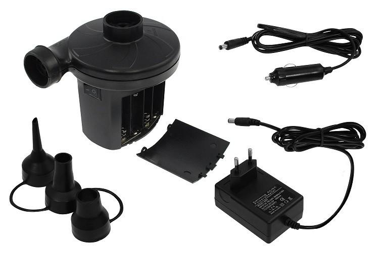 Elektrická pumpa na 12V/220V/baterie k nafukovací matraci
