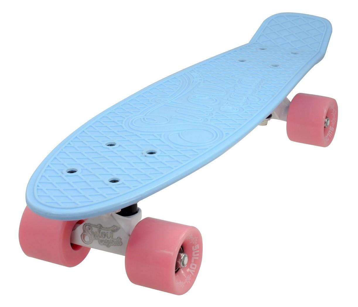 """Penny board 22"""" SULOV PASTEL modro-ružový"""