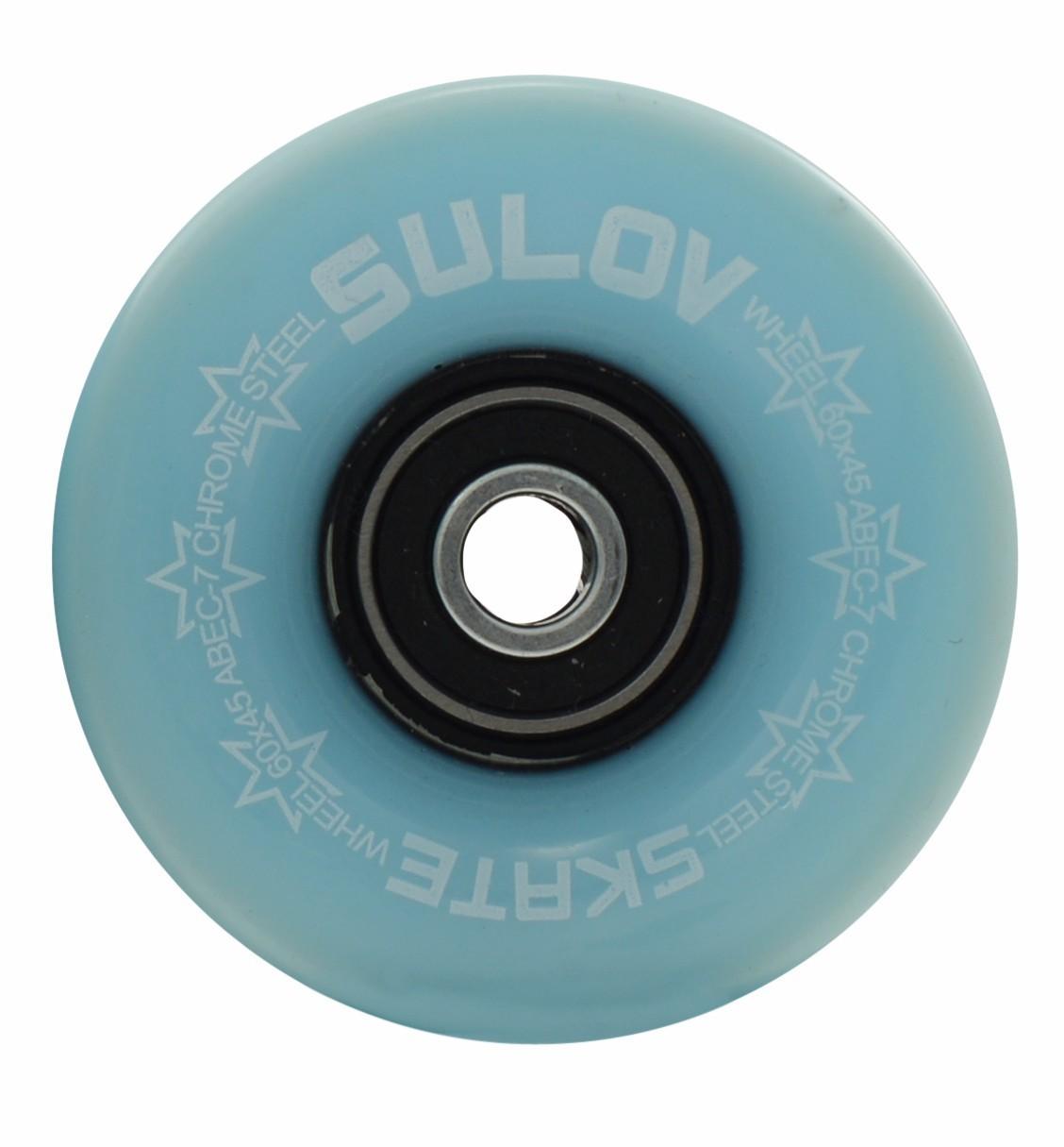 Kolečka Penny board PASTEL BLUE 60 x 45mm 85A (sada 4ks s ložisky ABEC-7 chrome)