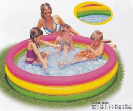 Bazén nafukovací dětský SOFT DNO 147x33