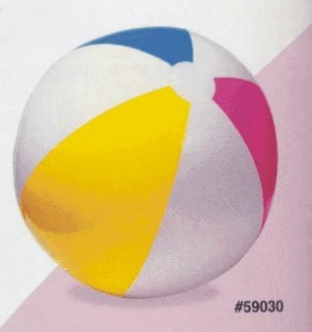 Nafukovací plážový míč barevný 61 INTEX barva žluto/modro/růžovo/bílý